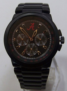 Alabama Crimson Tide Fossil Watch Mens Multifunction Black IP LI2722