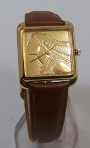 Pocahontas Pedre Watch Disney 18K Gold Medallion Limited Ed Wristwatch