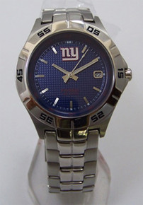 NY New York Giants Fossil Watch Mens 3 Hand Date Wristwatch NFL1106