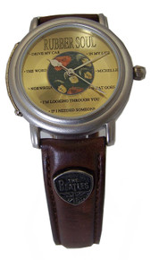 The Beatles Rubber Soul Watch in Wooden Guitar Case Beatles Wristwatch