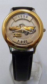 T-Bird Fossil Car Watch Relic 1955 Ford Thunderbird Auto Wristwatch