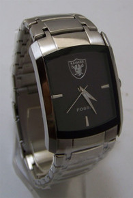 Oakland Raiders Fossil watch Mens Dress Regis wristwatch NFL1163 New