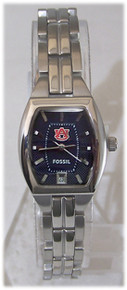 Auburn Tigers Fossil Watch Womens 3 Hand Date Ladies Wristwatch New