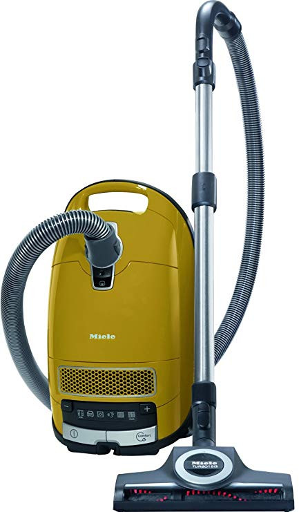 Calima is equipped with a standard set of accessories including the Parkett Twister hard surface floor tool. The Turbo adds utility for carpet and rug maintenance. The hose and wands are not equipped with electric adaptation, making it much lighter and easier to maneuver. Calima is Miele's top of the line HEPA Turbo system. Calima, and all the other Miele Vacuum models, has earned the Good Housekeeping Seal of Approval.