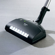 "This electrically-driven carpet tool with a 13 3/8"" wide brush roll is ideal for medium to high-pile and plush carpeting. Equipped with a swivel neck and five level height adjustment, the SEB236 powerbrush offers maximum maneuverability and versatility. With LED-headlight and direct connect."