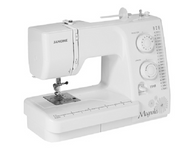 Easy to use features and supreme functionality unite in the Magnolia 7318. It's the perfect machine for all of your projects: quilting, garments, crafting, home dec, and more. With 18 decorative and utility stitches, easy electronic features, and the power and precision you can expect from Janome, all of your projects will get done quickly and easily. The Magnolia 7318 is the perfect machine for your lifestyle and your budget.