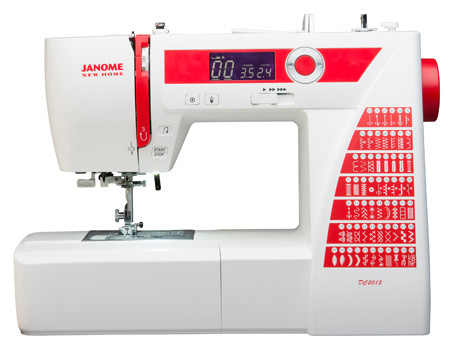 The Janome DC2015 brings the features you need to complete any project: home dec, garment sewing, scrapbooking, or quilting. 60 stitches, including 6 buttonholes, give essential variety for your diverse sewing needs. You'll also find a variety of easy convenience features, including an auto-lock button, easy reverse and a speed control slider. The DC2015 also features the stability and dependability you expect only from a high end machine, allowing you to sew with precision and confidence.