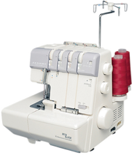 JANOME 634D SERGER:  $589 3/4 Thread with easy to thread lower looper and rolled hem switch. When you want to make the most of your serging time, with professional results, the MyLock 634D is unmatched. It has 2 needles and 2, 3 or 4 thread overlock stitching. Threading is a breeze due to color-coded thread guides and an easy lower looper threading system. The MyLock 634D also lets you quickly switch to rolled hemming without changing the needle plate.
