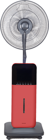 The CoolZone Ultrasonic Misting Fan is designed to keep you cool and comfortable during the hot season with many beneficial features. Dry Environments can lead to dehydration and accelerated aging, but the CoolZone misting function uses ultrasonic high frequency oscillation principles to atomize the water into 1-5 micron ultra fine particles, then diffuses water into the air, leaving you cool and refreshed, but not feeling wet. For an even cooler breeze, simply add the included frozen polar packs.