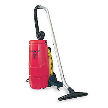 """The Oreck Backpack will provide users with a hands free, multi functional option to dragging a vacuum around. Oreck is a large capacity tough durable design, ready for professional challenges. Specifications: Air Flow: 122 cfm Series: Commercial Tank - Size10 qt. Hose Dia.1-1/2"""" Hose Length 4 ft. Includes Padded Shoulder Straps, Backrest, Waist Belt, Stretch Hose, Aluminum Wand And Five Suction Tools"""