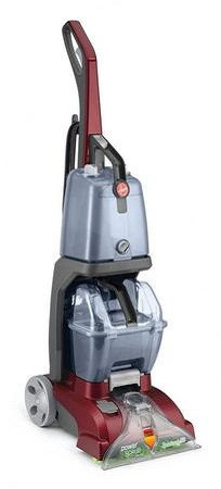 The Hoover FH50150 Power Scrub Deluxe is an easy to use general-use carpet shampooer. The Dual V nozzle provides equal suction to clean surfaces quickly and evenly. Forced heated air blows hot air from the motor to speed up drying time. An Automatic Detergent Mixing System provides the correct mix of detergent and water for optimal cleaning results. The Smart Tank system makes emptying and filling easy with no mess, no tools and no waste of time. The recovery tank comes with a quick pour spout. Attachments include an 8 foot hose and a SpinScrub Powered Hand Tool for cleaning upholstery and stairs. The Hoover FH50150 Power Scrub Deluxe is covered by a 2 year parts and labor warranty from Hoover.