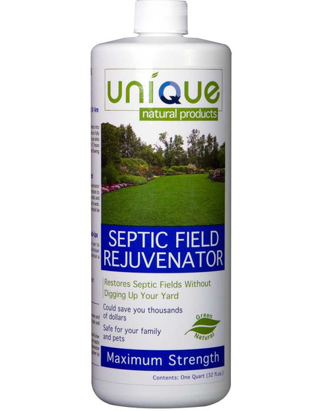 Septic Field Rejuvenator will restore completely clogged septic systems. It could save you over $5,000!  Use this green, natural, product to restore even the most clogged-up and backed-up septic systems!
