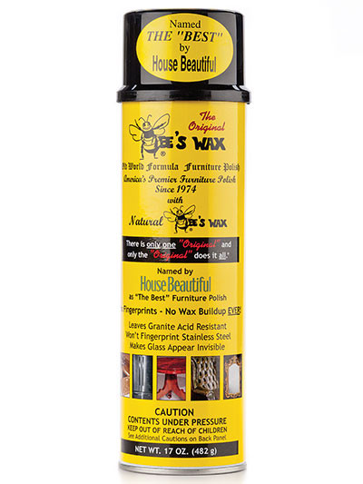 Use it on WOOD, LEATHER, MARBLE, GRANITE, WROUGHT IRON, STAINLESS STEEL, GLASS AND MIRRORS! It leaves no fingerprints, has no wax buildup over time and requires NO BUFFING!