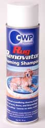 CS-8014 SHAMPOO 18 OZ. AEROSOL: Just spray and brush. Use the CWP Rug Renovator Brush or any other handy brush.