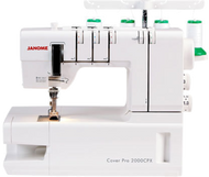 A coverstitch machine is essential for the sewist looking to achieve a professional finish. The CoverPro® 2000CPX's innovative design is based on the marriage of an industrial-style cover hem machine and a convenient home machine. The resulting union has produced a high-speed, long arm, heavy-duty cover hem machine that looks and operates like a sewing machine. With a wide trip cover hem stitch, exclusive free arm configuration, Tension Level Control (TLC) and Janome's Seam Tightening System™ (STS), the 2000CPX is the most advanced Cover Hem machine available.