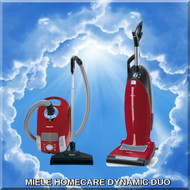 HomeCare Dynamic Duo Napa Sew & Vac has bundled 2 Miele Vacuum HomeCare units that compliment each other, providing the ultimate vacuum collection for cleaning your home from top to bottom, inside and out!