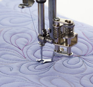 The set includes three different feet that attach to the holder with a screw for maximum sturdiness and safety. Also includes a darning plate. Feet included in the package are: Closed Toe Foot for general use with lace and catchable fabrics, Open Toe Foot for general use and extra visibility, and Clear View Foot for uneven surfaces and evenly spaced quilting.