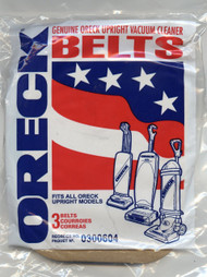 3/ pack of Oreck XL rubber belts.