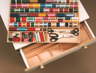 Thread and accessory tray to fit in the drawers of the following Horn of America cabinets: 08, 16, 2155, 3180, 7500 and many previous years cabinets and storage chests.