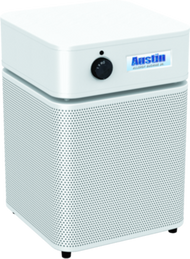 Allergy Machine Jr.  - WHITE Maximum protection for people with asthma and allergies. The Austin Air Allergy Machine™ has been developed specifically to offer maximum protection for those suffering from asthma and allergies. It effectively removes allergens, asthma irritants, sub-micron particles, chemicals and noxious gases, providing immediate relief for asthmatics and allergy sufferers.