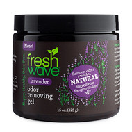 lavender 15 oz. odor removing gel SKU: 116 Introducing Fresh Wave Lavender Odor Removing Gel: The same odor removing power of Fresh Wave, now infused with lavender oil. Known for its calming properties, the addition of lavender gives a boost to our trusted Fresh Wave best sellers. Now you can remove odors with lasting, relaxing lavender essence.