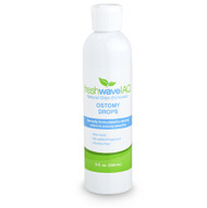 8 oz. Ostomy Drops SKU: 518 Available in a larger, 8 oz. size, our Fresh Wave IAQ Ostomy Drops are the most effective solution for removing odors in ostomy bags. Our unique technology targets and removes odors completely instead of simply masking them with harsh chemicals or artificial fragrances. With natural, non-toxic, and effective ingredients, our drops will help you eliminate ostomy bag odors quickly and safely.