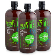 3 pack of 32 oz. odor removing spray refill SKU: 058-3 Buy the 3 Pack of our 32 oz. Odor Removing Spray Refill and save even more! If you're a fan of our spray, it's time to celebrate…and SAVE! Our 32 oz refill size is back! The new easy-pour spout makes refilling any bottle a breeze, and whether you like to stock up or you prefer to reuse bottles to reduce waste, we've got you covered. Have you done the math yet? These savings are too good to be true!