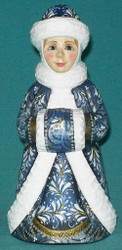 BLUE & WHITE HAND PAINTED RUSSIAN SNOW MAIDEN