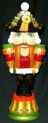 REGAL PROUD HAND CARVED & HAND PAINTED RUSSIAN NUTCRACKER STATUETTE #2762