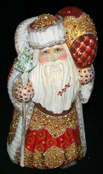 MARVELOUS BRIGHTLY COLORED HAND PAINTED RUSSIAN SANTA CLAUS #7411