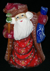 FANTASTIC HAND PAINTED OLD WORLD RUSSIAN SANTA CLAUS #2135