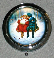YOUNG SWEETHEARTS ON SWING - RUSSIAN COMPACT MIRROR #0018