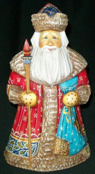 INCREDIBLE OLD WORLD HAND PAINTED RUSSIAN SANTA CLAUS #8712