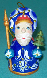 RUSSIAN HAND PAINTED SANTA CLAUS CHRISTMAS TREE ORNAMENT #0033