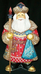 PHENOMENAL OLD WORLD HAND PAINTED RUSSIAN SANTA CLAUS #8853 w/ STURDY BOOTS