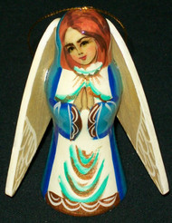 LOVELY HAND PAINTED RUSSIAN ANGEL TREE ORNAMENT #2747