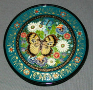 Colorful Floral Hand Painted Russian Lacquer Box - BEAUTIFUL BUTTERFLIES #0175