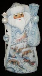 UNBELIEVABLE SCENIC HAND PAINTED SANTA CLAUS #7996 w/ VICTORIAN CHRISTMAS SCENES
