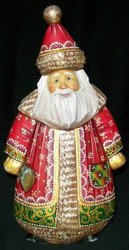 INCREDIBLE HANDPAINTED UNIQUELY SHAPED RUSSIAN SANTA #2223