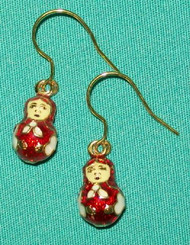 Russian Matryoshka Nesting Doll Shaped Earrings #8508