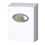 Mailbox Vertical Lockable White