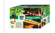 30 Foot String of 15 Light Bulbs