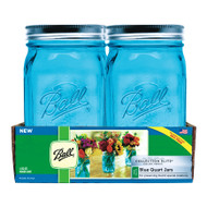 Ball Wide Mouth Blue Quart Jars Set of 4