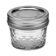 Ball Regular Mouth Quilted Crystal Jelly Jars 4oz Set of 12