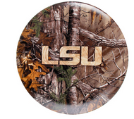 "LSU Tigers RealTree Camo 10"" Plate Set of 4"