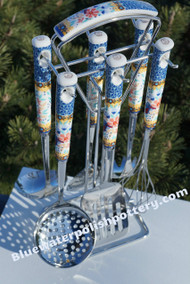 Polish Pottery Utensils Set - Alexandria