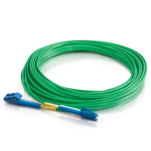 C2G-33370 | 1m LC-LC 9/125 OS2 Duplex Single-Mode PVC Fiber Optic Cable - Green