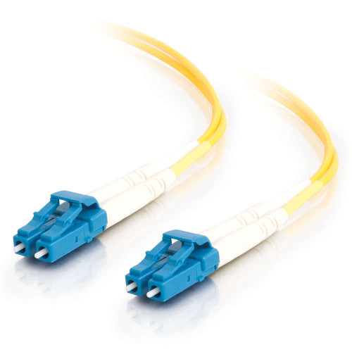 C2G-34604 | 5m LC-LC 9/125 OS2 Duplex Single-Mode Fiber Optic Cable - Low Smoke Zero Halogen LSZH - Yellow