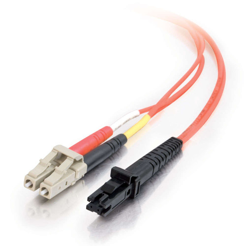 C2G-33181 | 1m MTRJ-LC 62.5/125 OM1 Duplex Multimode PVC Fiber Optic Cable - Orange