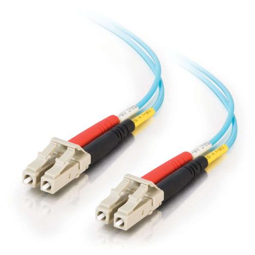 C2G-36235 | 5m LC-LC 10Gb 50/125 OM3 Duplex Multimode Fiber Optic Cable - Plenum CMP-Rated - Aqua